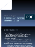 theories of experience and interpretation
