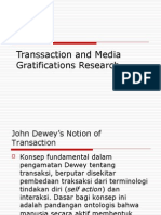 transsaction and media gratifications research