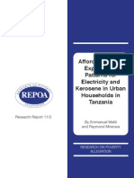 Affordability and Expenditure Patterns for Electricity and Kerosene in Urban Households in Tanzanian