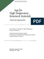 Coating of High Temperature Structuraal Materials