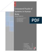 Crossword Puzzle of Systems in Human Body