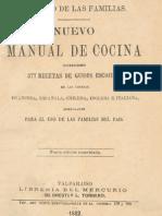Nuevo Manual de Cocina. 1882
