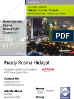 Fuady Rosma Hidayat - Need Specific App in Share Point, Custom It!
