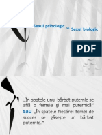 Sexul Psihologic vs Sexul Biologic