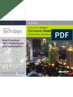 Darmawan Suandi - Best Practice, .NET Performance and Optimization