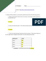 Projectile Motion Simulator Worksheet