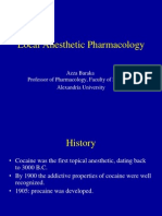 Local Anesthetic Pharmacology Lec