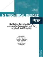 Guideline for Selection of Accelerated Corrosion Test