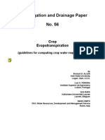 FAO Irrigation and Drainage Paper 56 Evapotranspiration