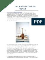 Avocate Lausanne Droit Du Travail