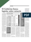 El gobierno busca legislar sobre minería