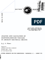 Analysis and Calculation of Lightning Induced Voltage