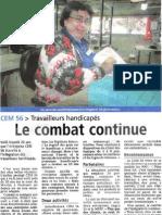 CEM 56 Travailleurs Handicapés Le Combat Continue
