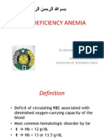 K9 - Iron Deficiency Anemia