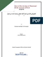 Combining Three of the Six Days of Shawwaal With the Ayyaam Albeed