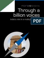 India's role in a multi-polar world