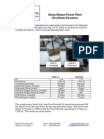 Oil in Waste Water Power Plant Case Study