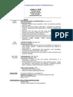 Sample Industrial Engineer Resume