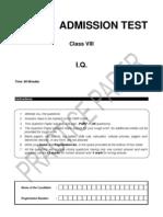 Class 8 Practice Paper-iq