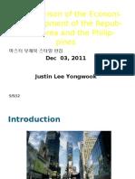 A Comparison of the Economic Development of The