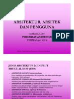 Arsitektur Arsitek Dan Pengguna