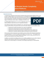 PCI and Remote Vendor Monitoring