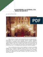 EL CARDENAL RATZINGER, LA LITURGIA, Y EL MISAL DE SAN PIO V