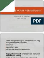 D62109006 Siti Athirah R.H. - SYARAT – SYARAT PENIMBUNAN