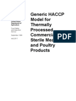 Generic HACCP Model for Thermally Processed, Commercially Sterile Meat and Poultry Products