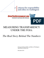 Measuring Transparency Under the FOIA