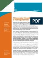 Interaction Statement on Integration - FINAL 15 Dec 2011
