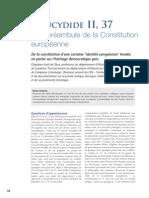 Thucydide II 37 et le préambule de la constitution européenne