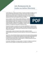 Procedimiento Restauración de objetos borrados en Active Directory