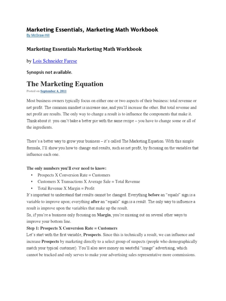 Marketing Math Essentials | Gross Margin | Retail