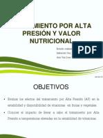 Tratamiento por alta presión y su valor nutricional