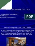 Nmims Biz Quiz 2011