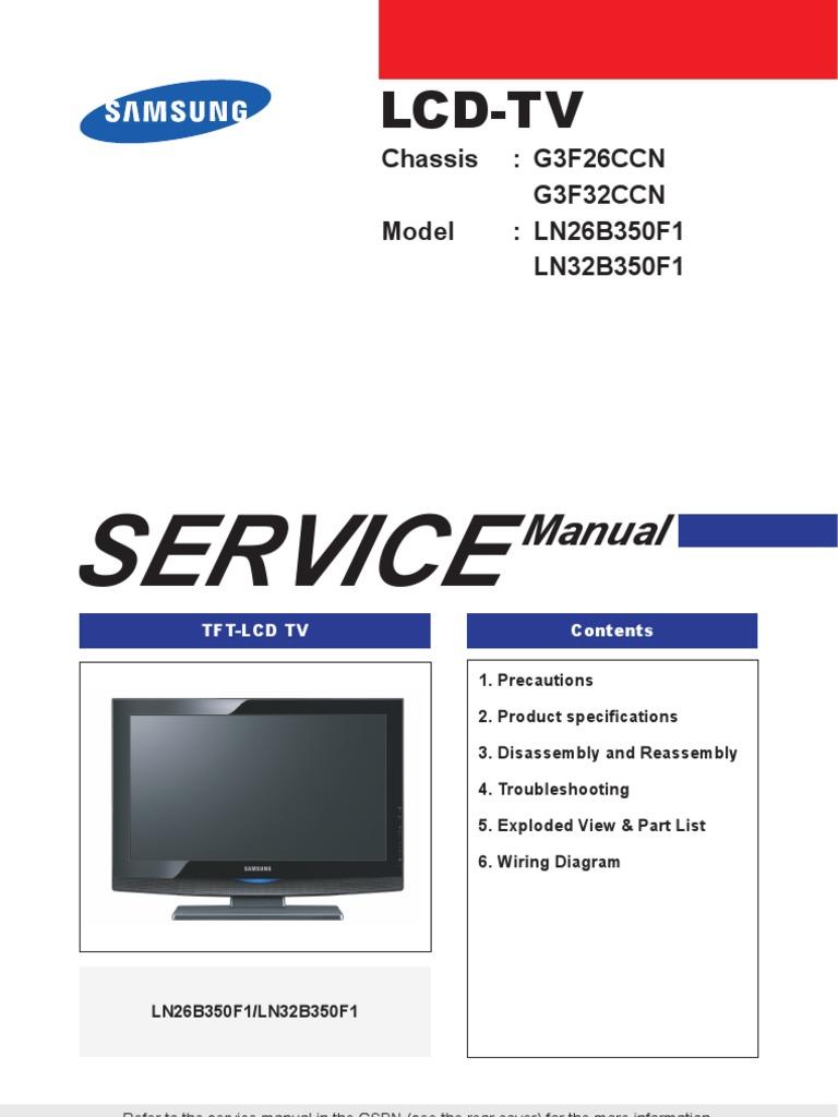 Samsung Lcd Tv Wiring Diagram Wiring Diagram