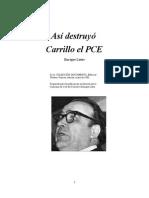 Así destruyó Carrillo al PCE - Enrique Lister
