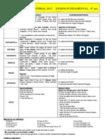 Lista de Material 2012-6º ano
