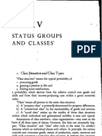 Weber - Status Groups and Classes