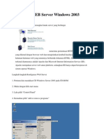 Konfigurasi WEB Server Windows 2003 Server