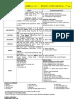 Lista de Material 2012-7º ano