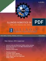 IRIS ESPL Robotic Kits Lunabotics 9.15