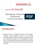Cunard Line,Ltd, Managing Integrated Marketing Communications