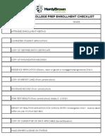 Enrollment Checklist