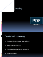 Barriers of Listening