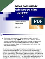 Elaborarea planului de tranzacționare pe piața FOREX