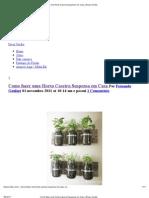 Como Fazer Uma Horta Caseira Suspensa Em Casa _ Dicas Verdes