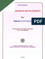 Teachers Manual Diploma Water Resources Development