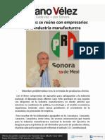 15-12-11 Cano Vélez se reúne con empresarios manufactureros
